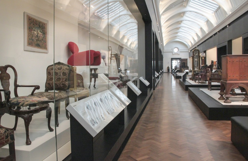 Furniture Gallery at the Victoria & Albert Museum, London, 2013. Photo: Kotomi Yamamura.