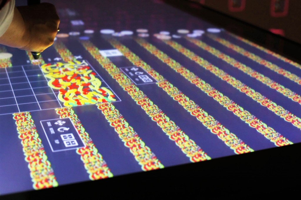 Interactive table at the Cooper Hewitt, Smithsonian Design Museum, New York, 2015. Photo: D.M.D.